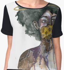 Ring Around the Afro Chiffon Top