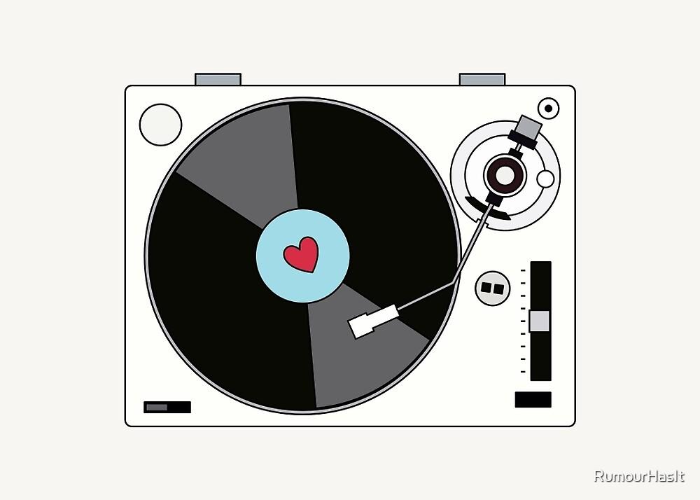 Retro Record Player by RumourHasIt