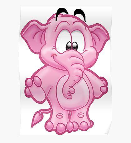 HeinyR- Happy Elephant Poster