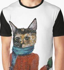 Cozy Kitten Graphic T-Shirt
