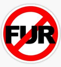 No Fur Sticker