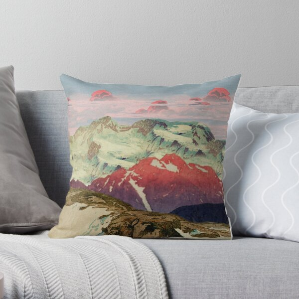 Winter in Keiisino Throw Pillow