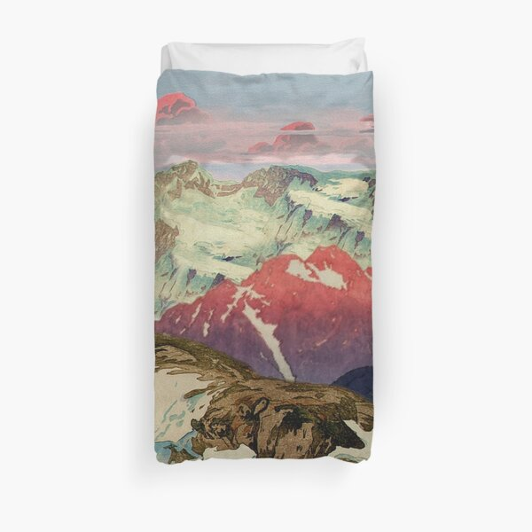 Winter in Keiisino Duvet Cover