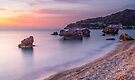 Pastels at Poros, Kefalonia, Greece by Cliff Williams