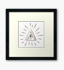 A Scanner Darkly Illuminati Symbol Framed Print
