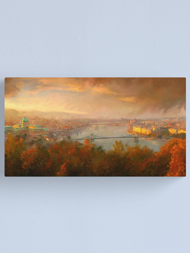 Alternate view of View of Budapest Canvas Print