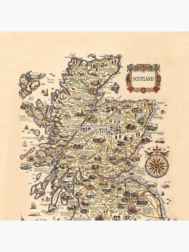 1927 vintage Scotland map design - unique gift idea by mappendant