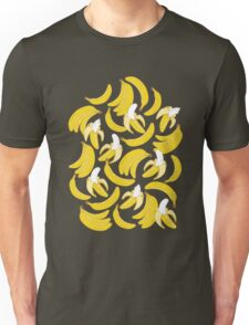 Banana pattern on turquoise background Unisex T-Shirt