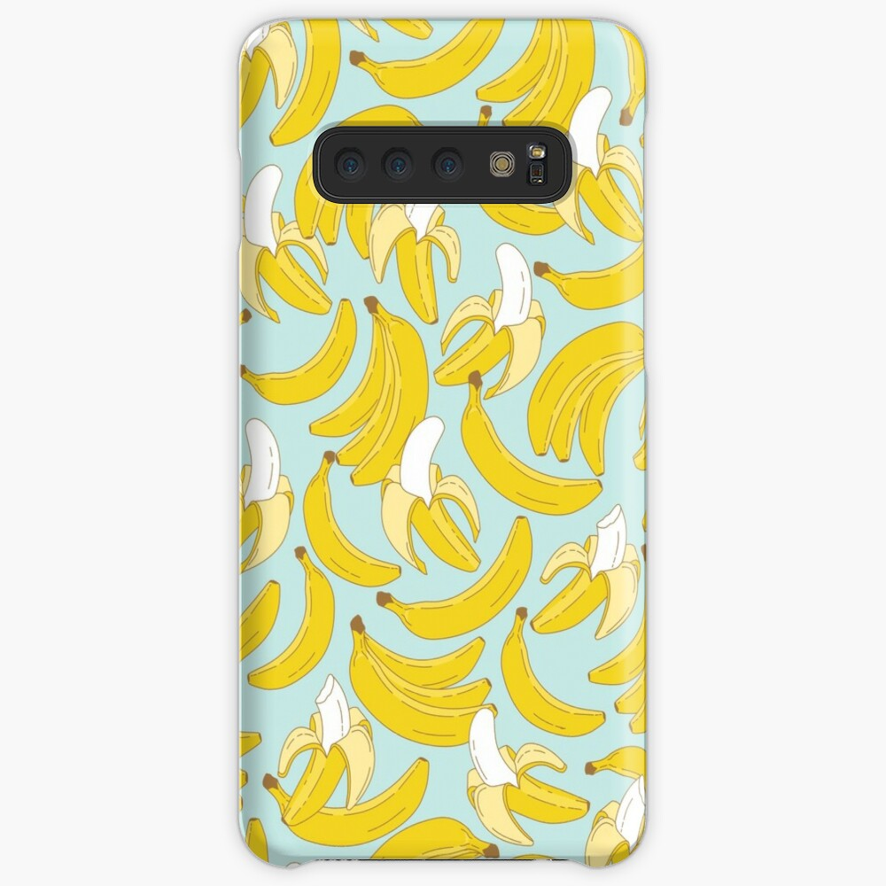 Banana pattern on turquoise background Case & Skin for Samsung Galaxy