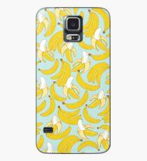 Bananenmuster auf Türkishintergrund Hülle & Klebefolie für Samsung Galaxy