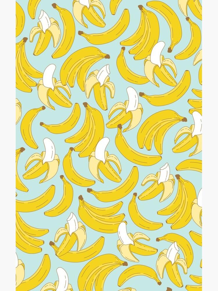 Banana pattern on turquoise background by MartaOlgaKlara