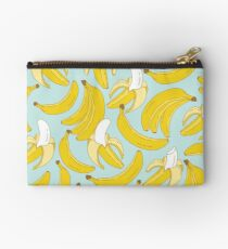 Banana pattern on turquoise background Studio Pouch