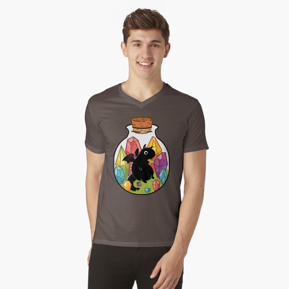 Drache in einer Flasche T-Shirt mit V-Ausschnitt