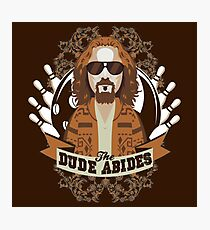 The Dude Abides The Big Lebowski Photographic Print