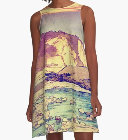Sunset at Yuke A-Line Dress