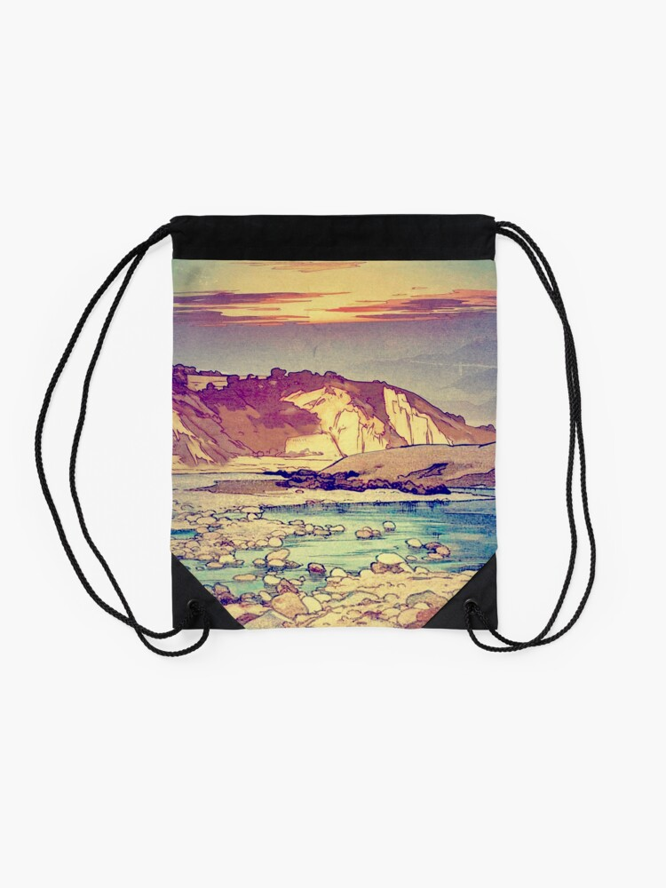 Alternate view of Sunset at Yuke Drawstring Bag