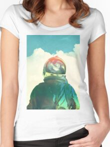 God is an astronaut Women's Fitted Scoop T-Shirt
