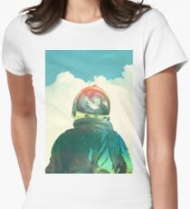 God is an astronaut Women's Fitted T-Shirt