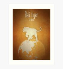 Bali tiger - extinct animals Art Print