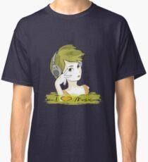 I Love music, teenager listening music Classic T-Shirt