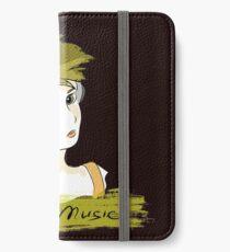 I Love music, teenager listening music iPhone Wallet/Case/Skin