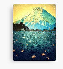Waddling through Kennijo Lake Canvas Print