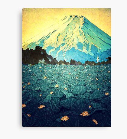 Waddling through Kennijo Lake Canvas Print