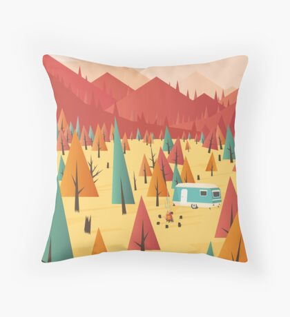 Go out Throw Pillow