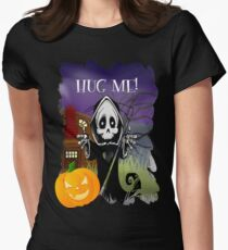 Grim Reaper - Hug Me! Womens Fitted T-Shirt