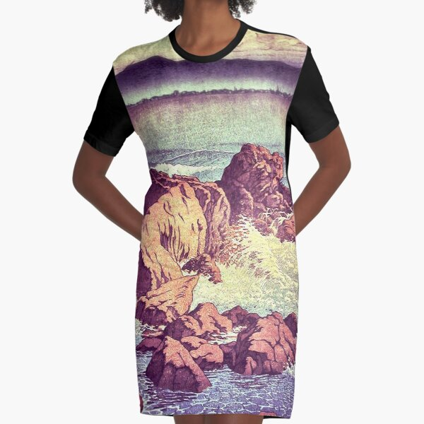 Stopping by the Shore at Uke Graphic T-Shirt Dress