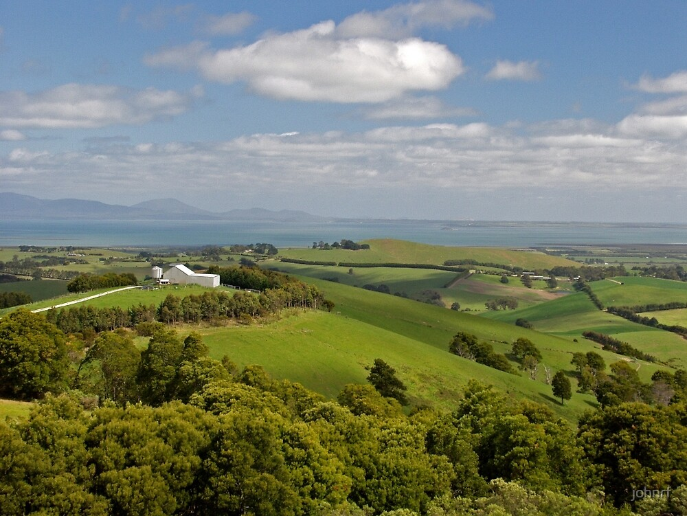 View from Mt Best over to Wilsons Promontory, Victoria, Australia. by johnrf