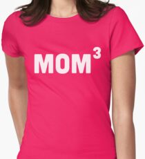 Mom Cubed / 3 Women's Fitted T-Shirt