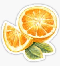 Orange fruit Sticker