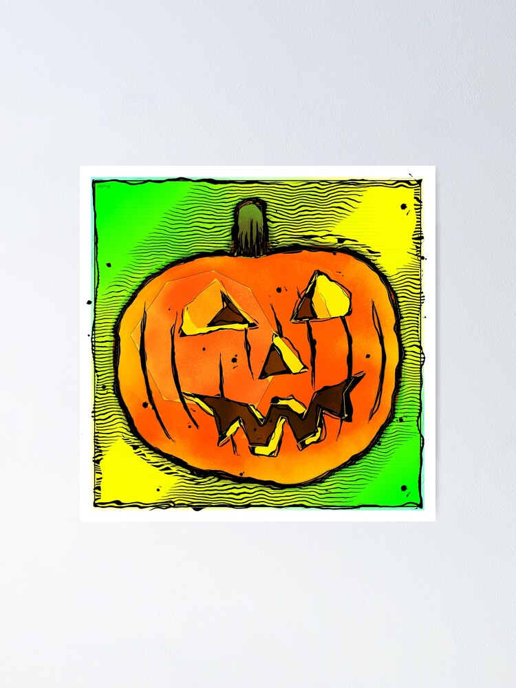 Alternate view of Halloween Pumpkin Poster