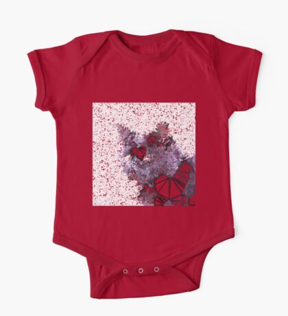 Red Black Cat #Polygonized Kids Clothes