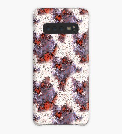 Red Black Cat #Polygonized Case/Skin for Samsung Galaxy