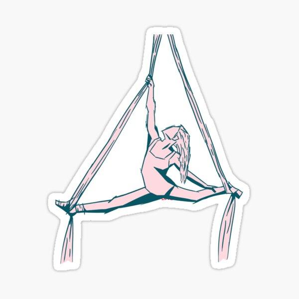 Aerial Silk | Aerialist dancer  Sticker