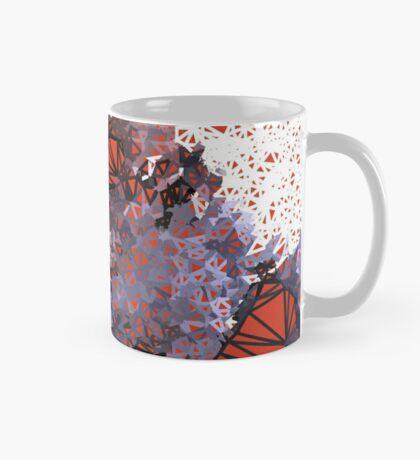 Red Black Cat #Polygonized Mug
