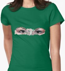 brown eyes Womens Fitted T-Shirt
