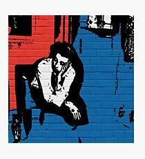 Thinking Graffiti (Red+Blue) Photographic Print