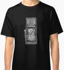 Bold, Black and White Camera Line Drawing Classic T-Shirt
