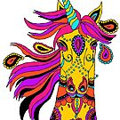 Bohemian Gypsy Unicorn by Michelle Grewe