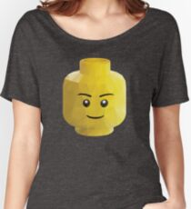Yellow Legohead Polygon Art Women's Relaxed Fit T-Shirt