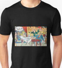 Ladies fighting in a restaurant vintage comic art Unisex T-Shirt