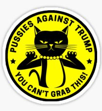Pussies Against Trump yellow Sticker