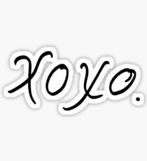 xoxo. Sticker