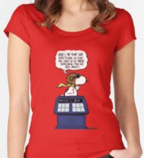 The time war hero Women's Fitted Scoop T-Shirt