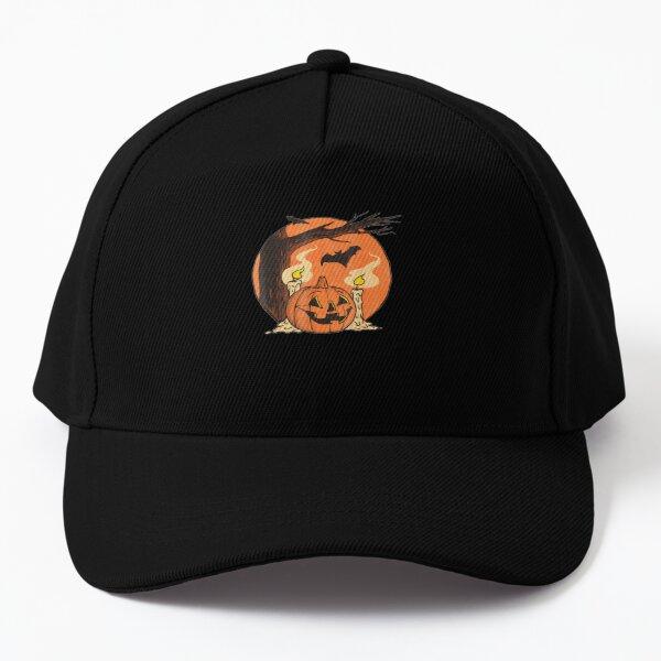 Vintage Pumpkin Scene Halloween Baseball Cap