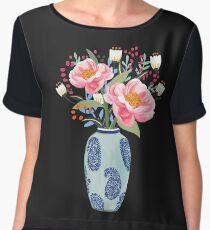 Vase Illustration Women's Chiffon Top