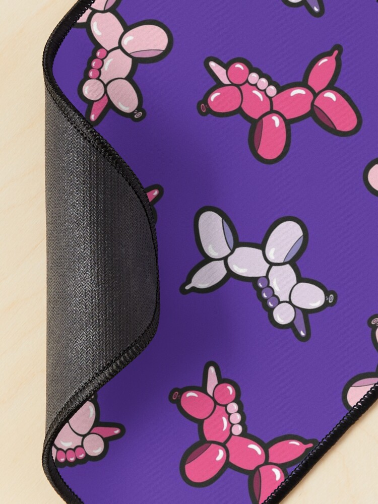 Alternate view of Balloon Animal Unicorns Pattern in Purple Mouse Pad